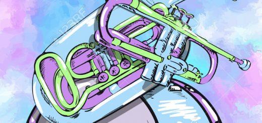 38327298-cartel-con-instrumentos-de-viento-foto-de-archivo
