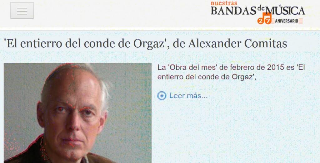 «El entierro del Conde de Orgaz», Obra del mes en Nuestras Bandas de Música