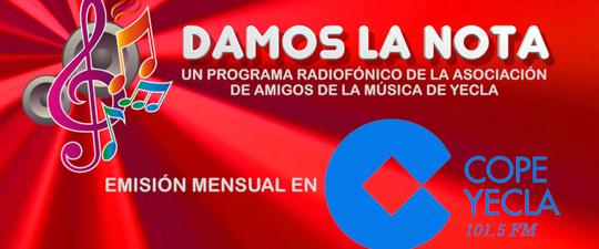 "VOLVEMOS A ""DAR LA NOTA"" EN COPE YECLA 101.5 FM"