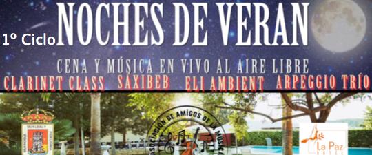 """LA AAMY PRESENTA EL 1º CICLO GASTRONÓMICO-MUSICAL """"LAS NOCHES DE VERANO"""""""