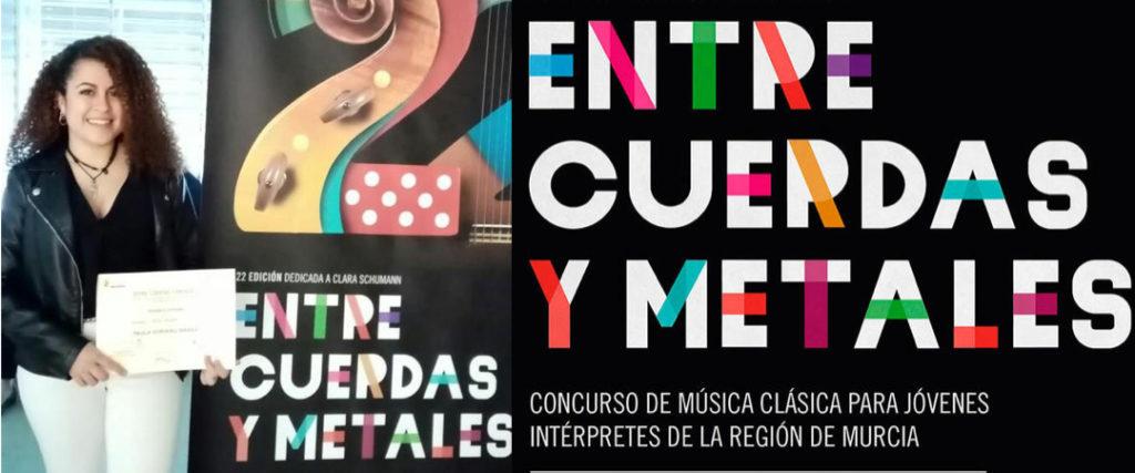 PAULA SORIANO GANA EL CONCURSO «ENTRE CUERDAS Y METALES» 2019