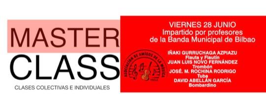 MASTERCLASS IMPARTIDA POR SOLISTAS DE LA BANDA MUNICIPAL DE BILBAO