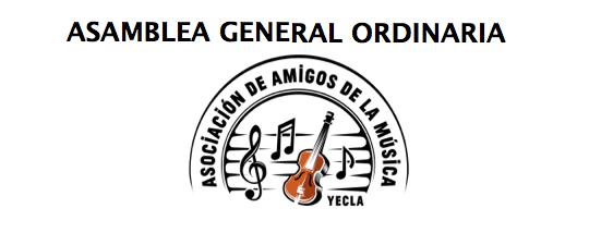SÁBADO 9 DE NOVIEMBRE – ASAMBLEA GENERAL ORDINARIA AAM DE YECLA