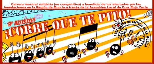 NO TE PIERDAS LA II CARRERA MUSICAL SOLIDARIA «CORRE QUE TE PITO»