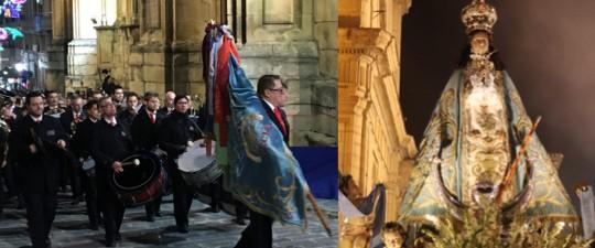 LA BANDA DE LA ASOCIACIÓN DE AMIGOS DE LA MÚSICA DE YECLA EN LAS FIESTAS DE LA VIRGEN 2019