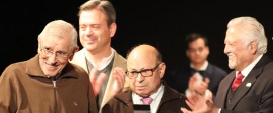 JOSÉ CANO MEDINA Y ÁNGEL HERNÁNDEZ CASTAÑO, INSIGNIAS DE ORO DE LA AAM POR SUS 75 AÑOS COMO MÚSICOS