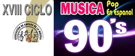 SÁBADO 25 DE ENERO: UN PASEO POR LA MÚSICA DE LOS 90 EN EL XVIII CICLO «AULA DE CONCIERTOS»
