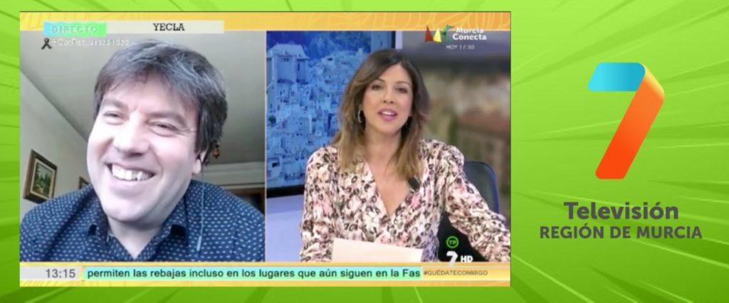 ENTREVISTA DE ÁNGEL HERNÁNDEZ AZORÍN EN «QUÉDATE CONMIGO» (7TV REGIÓN DE MURCIA)