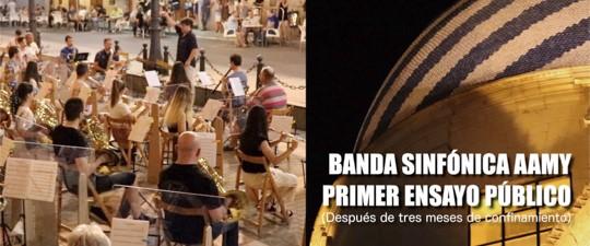 LA BANDA DE MÚSICA REALIZA SU PRIMER ENSAYO GENERAL
