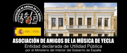 LA ASOCIACIÓN DE AMIGOS DE LA MÚSICA DE YECLA HA SIDO DECLARADA DE UTILIDAD PÚBLICA POR EL MINISTERIO DEL INTERIOR DEL GOBIERNO DE ESPAÑA