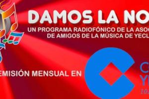 """EMISIÓN DEL ESPACIO """"DAMOS LA NOTA"""" EN COPE YECLA (101.5 FM)"""