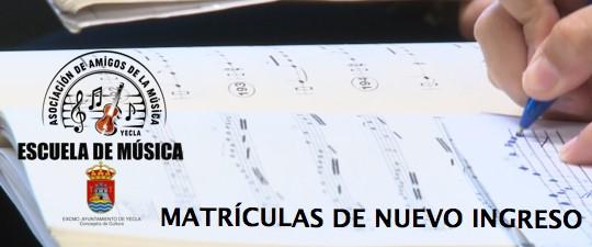 MATRÍCUAS CURSO 2021-2022 PARA ALUMNOS/AS DE NUEVO INGRESO