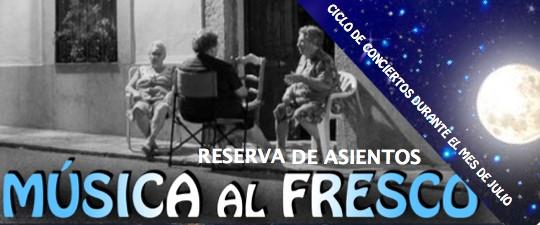 "«MÚSICA AL FRESCO"" – CONCIERTOS ASIGNATURAS DE CORO, BANDA, CANTO Y MÚSICA MODERNA"