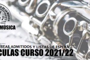 CURSO 2021-2022: LISTADOS PROVISIONALES ALUMNOS/AS ADMITIDOS Y LISTAS DE ESPERA