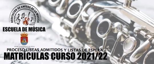 ALUMNOS/AS DE NUEVO INGRESO CURSO 2021-2022.  LISTAS DEFINITIVAS DE ALUMNOS/AS ADMITIDOS Y LISTAS DE ESPERA